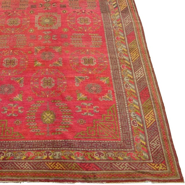 Extremely fine and rare antique Khotan Samarkand Runner, tribal and tradeitional and it's done by the best weaver on...