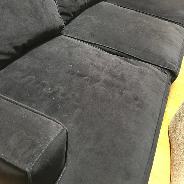 Living Spaces Blue Faux Velvet Oversized Isabelle Sofa - Image 9 of 10