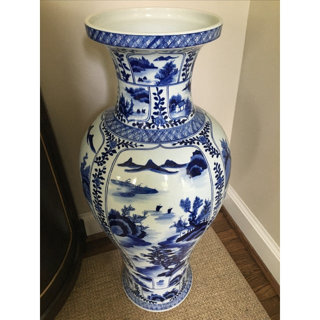 Ming Style Blue and White Floor Vase - Image 5 of 5