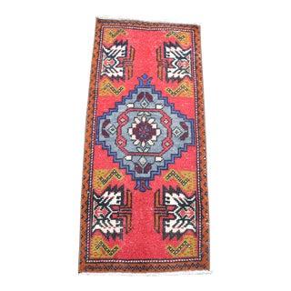 1960s Vintage Oushak Handmade Wool Rug For Sale