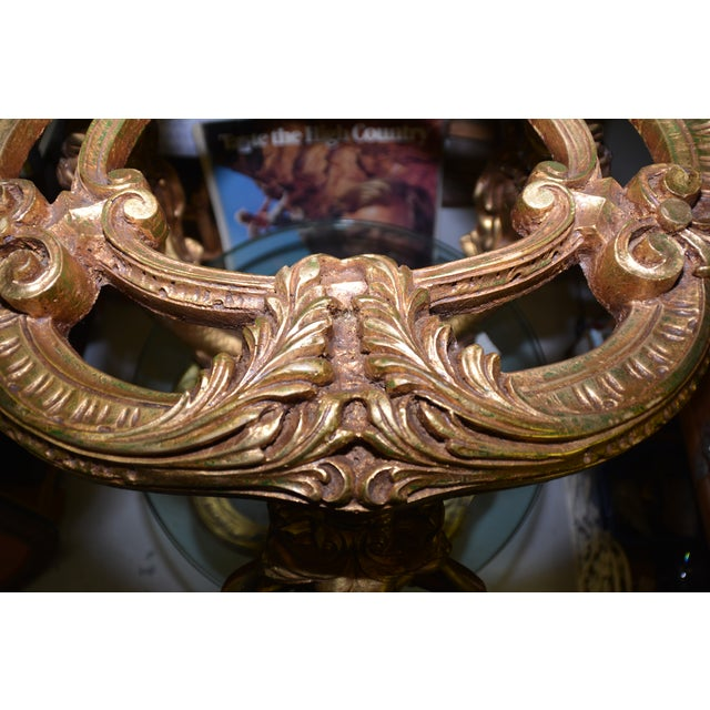 Vintage Gold Gilded Mermaid Side Tables - A Pair - Image 4 of 11