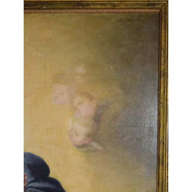 """19th Century """"The Immaculate Conception"""" Oil Painting After Giovanni Battista Tiepolo For Sale - Image 5 of 13"""