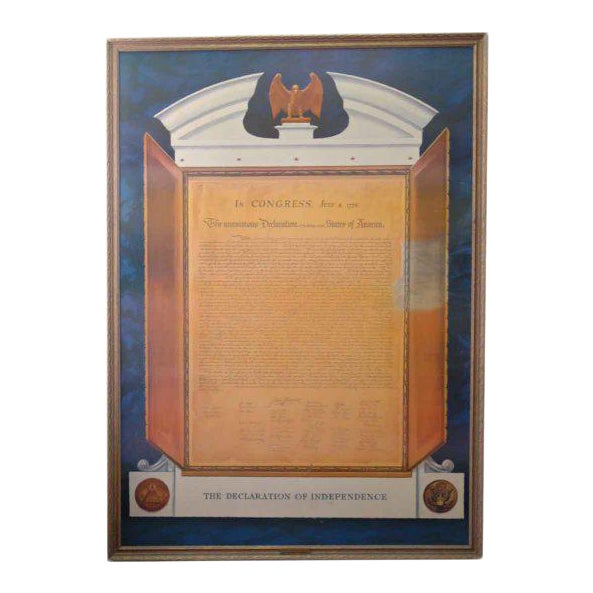 Commemorative Declaration of Independence Lithograph - Image 1 of 10