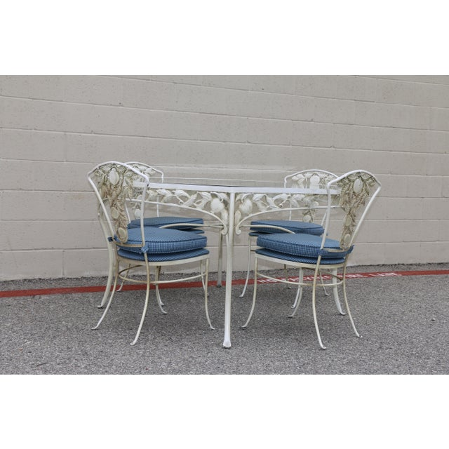 Metal Fruit Accent Patio Set - Set of 5 For Sale - Image 4 of 13