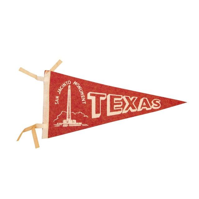 Texas, San Jacinto Monument Felt Flag - Image 1 of 3