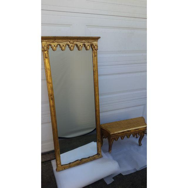 La Barge French Gold Pier Mirror & Console Table - Image 4 of 9