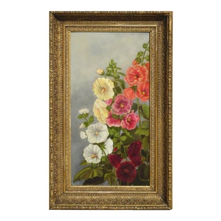 Old Fashioned Hollyhocks by Georgia White For Sale