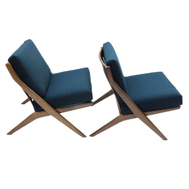 Pair Folke Ohlsson Dux Scissor Lounge Chair - Image 2 of 10