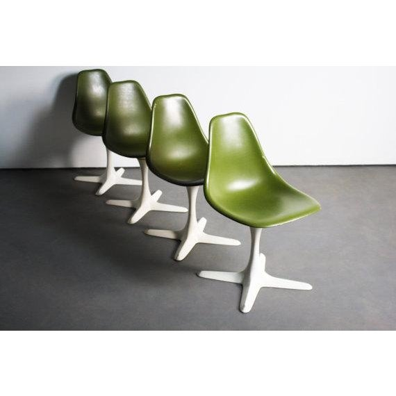 Avocado Green Burke Dining Chairs - Set of 4 - Image 2 of 5