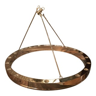 "Ralph Lauren Roark Nickel 40"" Modular Ring Chandelier For Sale"