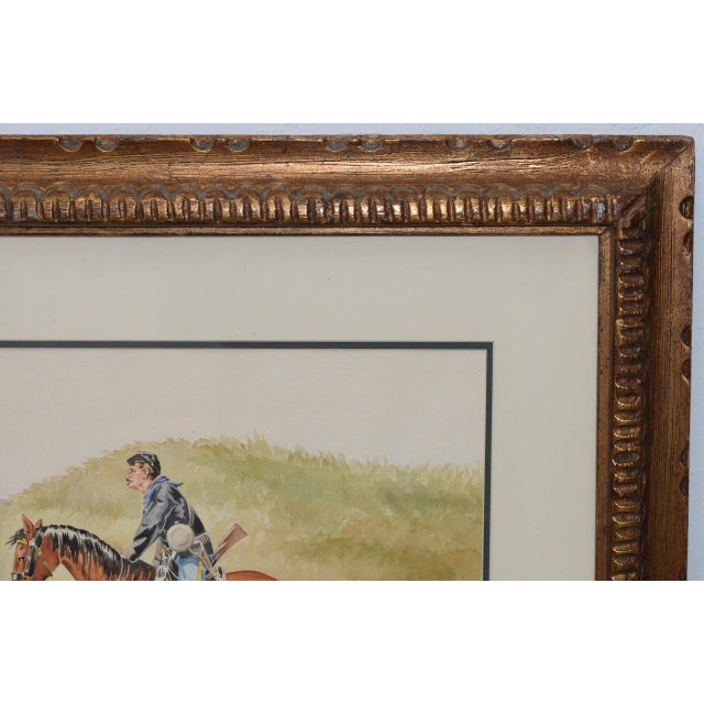 """Late 20th Century J. Thomas Soltesz (American, B.1955) """"The Couriers"""" Original Watercolor For Sale - Image 5 of 9"""