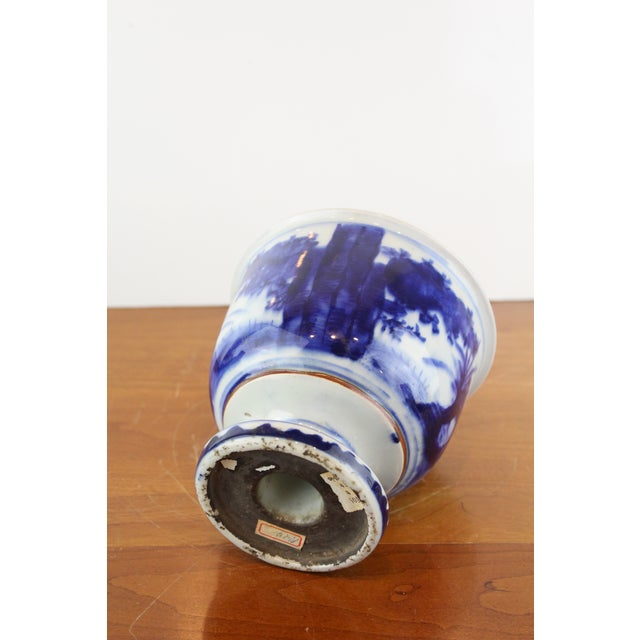 Antique Chinese Blue and White Urn For Sale In New York - Image 6 of 8