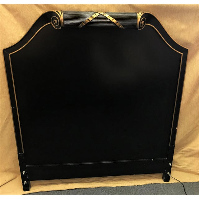 Vintage Art Deco Twin Headboard With Light For Sale - Image 4 of 13