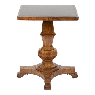 George IV Burr Elm and Ash Side Table with Scagliola Top For Sale