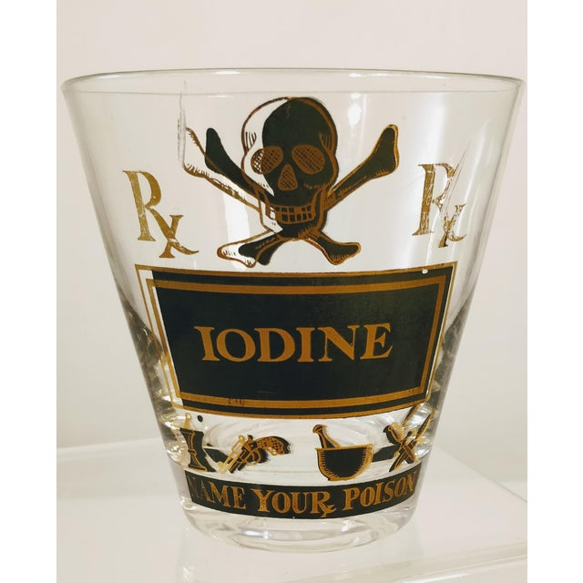 1960s Georges Briard Pick Your Poison Iodine Glass Tumbler Cocktail For Sale - Image 5 of 6