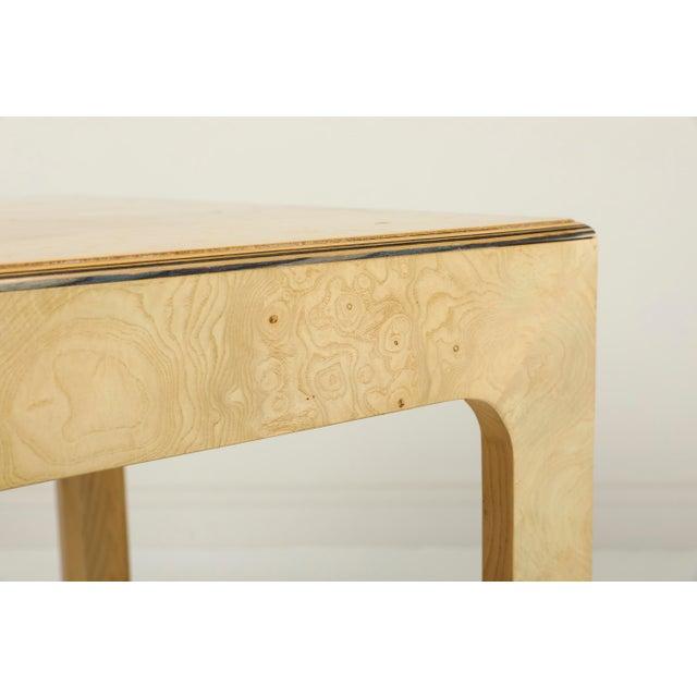 Wood 1970s Vintage Henredon Burled Olive Wood Dining Table For Sale - Image 7 of 11