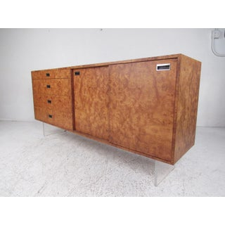 Harvey Probber Sideboard in Burlwood and Lucite Preview