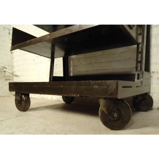1950s Industrial Five Level Shelving Unit For Sale - Image 5 of 8