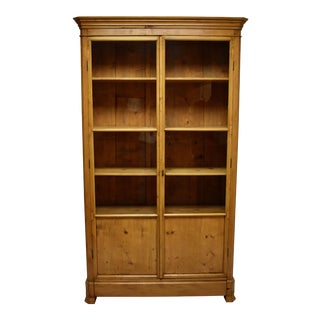 French Pine Glazed Bookcase For Sale