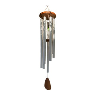 Mid Century Modern Teak Wind Chime For Sale