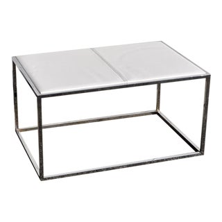1970s Mid Century Modern Chrome Side Table For Sale