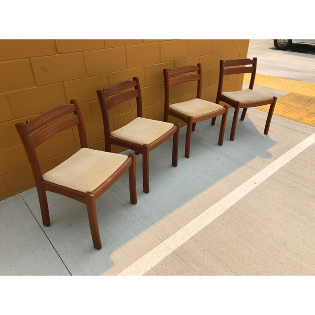 Danish Modern Mid-Century Danish Dyrlund Teak Chairs - Set of 4 For Sale - Image 3 of 7