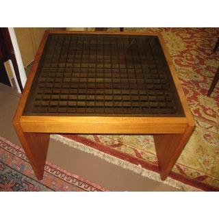 Mid-Century Modern Komfort Geometric Teak Coffee Table Preview