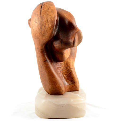 Abstract Wood Sculpture For Sale - Image 10 of 10
