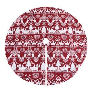 """Custom 53"""" Swiss Chalet Christmas Tree Skirt For Sale"""