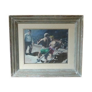 Boxing Match Oil Painting For Sale