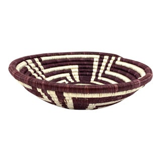 Rwandan Woven Basket For Sale