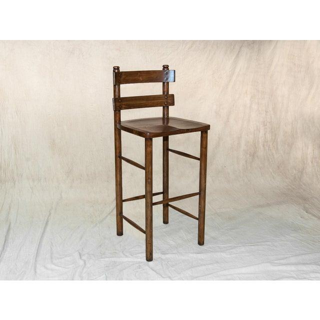 Vintage Sarreid LTD Wooden Bar Stool - Image 2 of 2