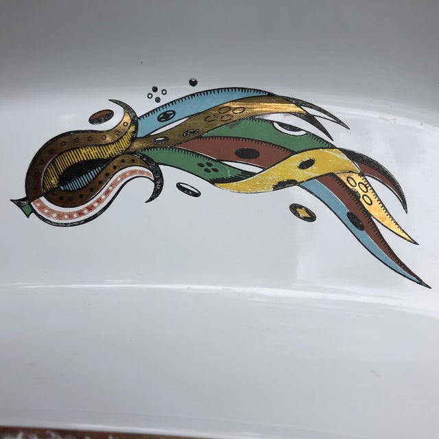 Vintage Georges Briard Enamel Meat Tray For Sale In Baltimore - Image 6 of 8