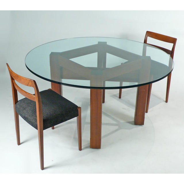 Early 20th Century Custom Glass Top Dining Table For Sale - Image 5 of 7