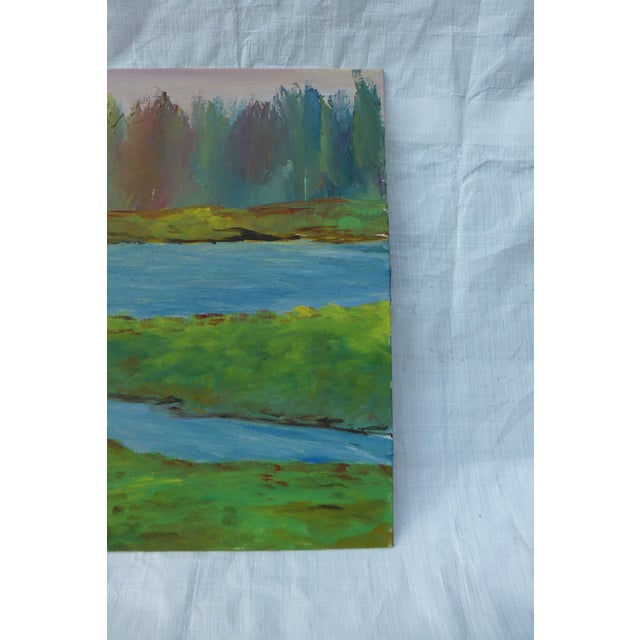 River's Edge Oil Painting by H.L. Musgrave - Image 5 of 6