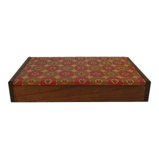 Vintage Japanese Wooden Trinket Box For Sale