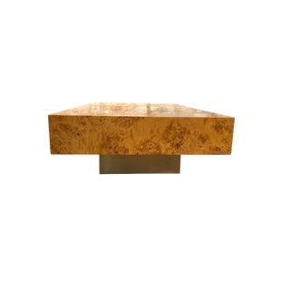 Vintage Christofle Paris French Burl Wood Coffee Table
