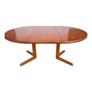 MCM Teak Expandable Dining Table Danish Modern Scandinavian For Sale