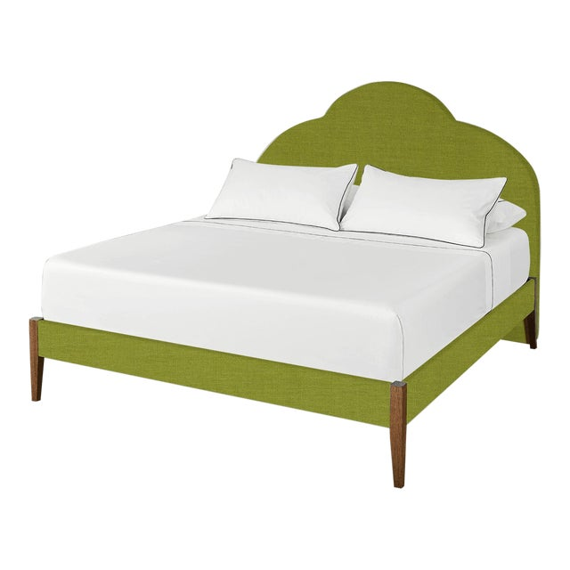 The Crown Bed - King - Kate - Como, Kelly Green For Sale