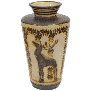 Primavera Glazed Ceramic Vase For Sale