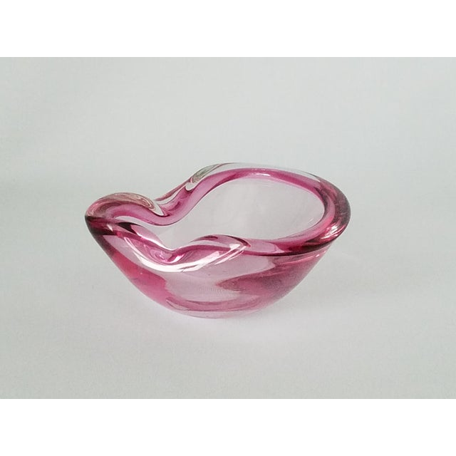 Petite Cherry Pink Murano Glass Ashtray - Image 7 of 9