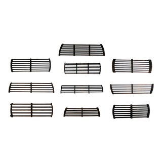 Antique Industrial Slatted Foundry Patterns for Molds Handmade Wood – Group 4 For Sale