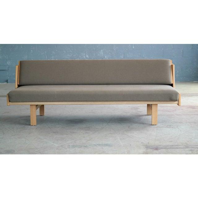 GETAMA Hans Wegner for GETAMA Model 258 Oak Sofa or Daybed For Sale - Image 4 of 11