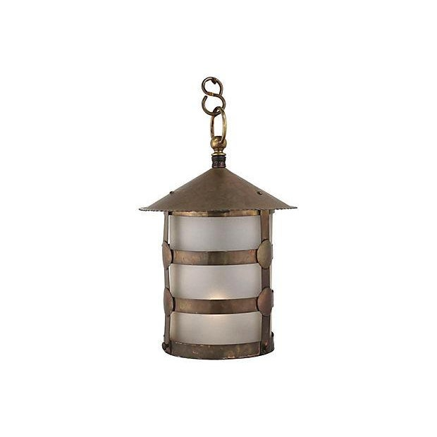 Antique Arts & Crafts Brass Lamp - Image 5 of 5