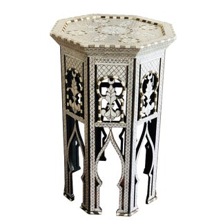 Moorish Style Mother of Pearl Inlay Syrian Side Table For Sale