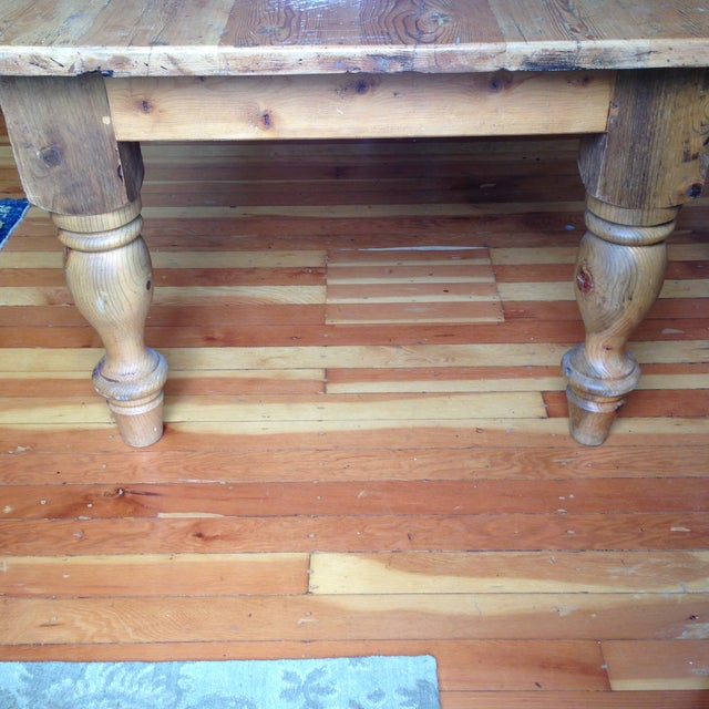 Large Reclaimed Wood Farm Table - Image 5 of 8