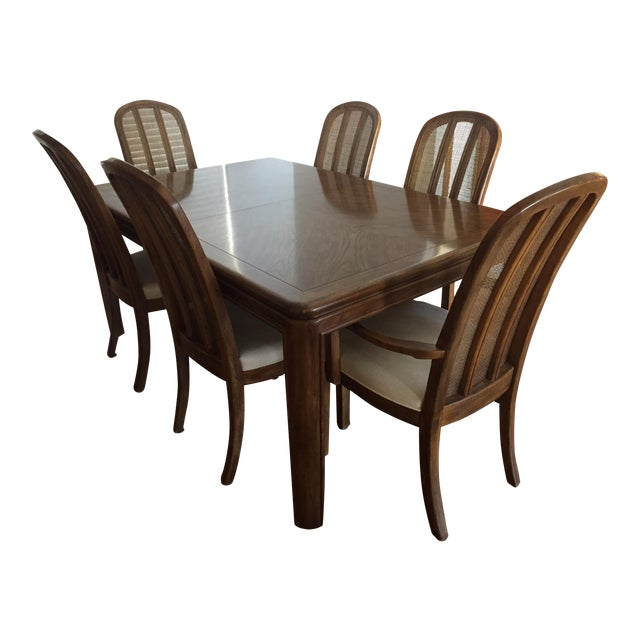 Astounding Drexel Heritage Passage Dining Table Chairs Bralicious Painted Fabric Chair Ideas Braliciousco