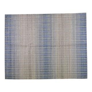 Natural Organic Wool and Silk Modern Handloom Modern Rug,8'x10' For Sale
