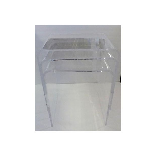 Lucite nesting tables set of 3 chairish lucite nesting tables set of 3 image 2 of 5 watchthetrailerfo