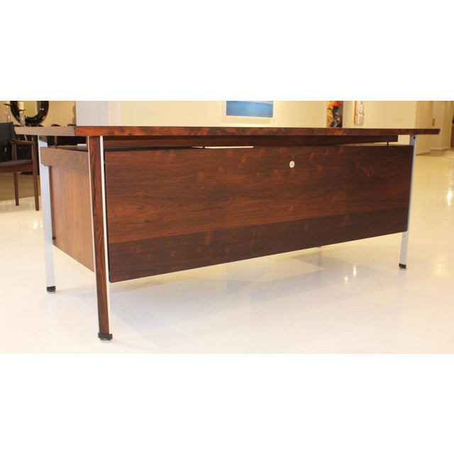 Finn Juhl Rosewood Executive Desk For Sale - Image 9 of 13